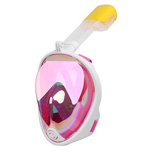 BaronHong Full Face Snorkel Mask para Adultos y jóvenes (Mujeres y Hombres) (Rosa, S/M)