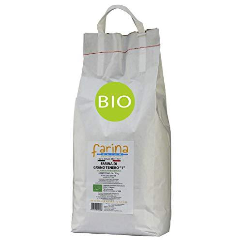 farina tipo 1 biologica di grano tenero BIO ideale per dolci e pizza origine Puglia e Basilicata...