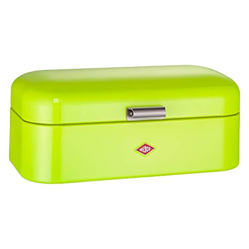 Wesco Grandy – German Designed - Steel bread box for kitchen / storage container, Lime Green