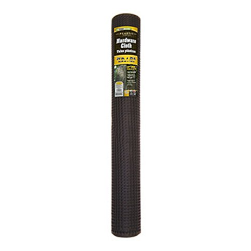 "Yardgard 889231a Plastic Hardware Cloth Roll, Black, 1/2"" Mesh, 24"" X 25'"