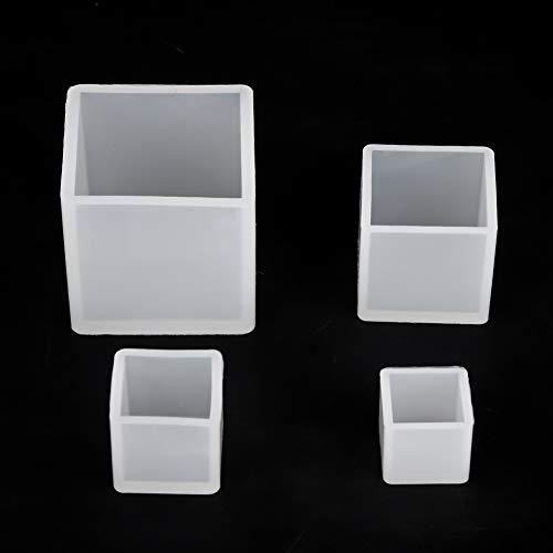 4 Unids/Set Molde de Resina, Molde de joyería Cuadrado de Bricolaje, Adornos de Bricolaje Manualidades de Bricolaje para la fabricación de Joyas para el Bastidor de Resina