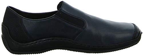 Rieker Rieker L1781-14 Damen Slipper praktischer Gummizug gepolsterte Lederinnensohle, Groesse 39, dunkelblau