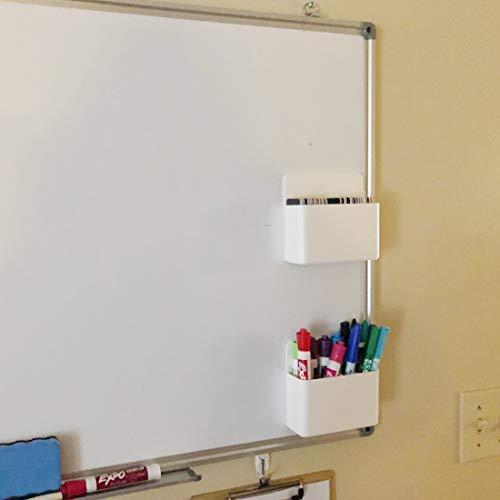 1 Pack Magnetic Dry Erase Marker Holder, Whiteboard Marker Holder, Mighty-magnetic Marker Pen Organizer for Whiteboards (White) Photo #2