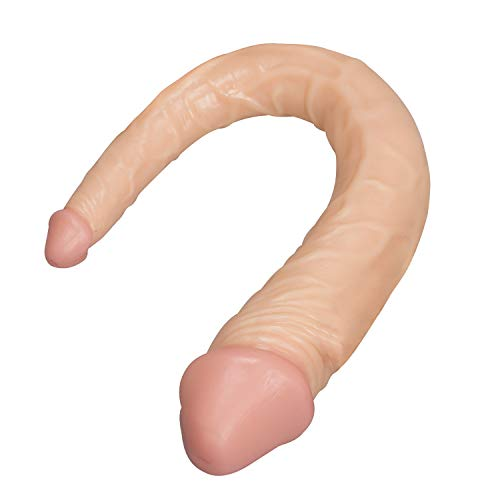 PIUHJS Realịstịc Lifelike Double Ðíldɔ, Super Long 14.17 Inches Super Soft Waterproof Female Másságe Stick, Suitable for Lësbiân Beginners Women's Gifts (Color : Flesh Color)