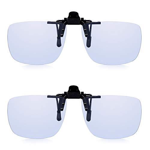 2 x Read Optics Clip de luz azul anti en gafas de ordenador + TAC antireflejos + Filtro UV-400. Para pantalla digital, teléfono, TV, PC Gamer. Reduzca la fatiga y el dolor de cabeza cansados