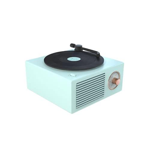 Disco de Vinilo Retro Altavoz Bluetooth Reproductor de Discos Giratorio Altavoz Portátil...