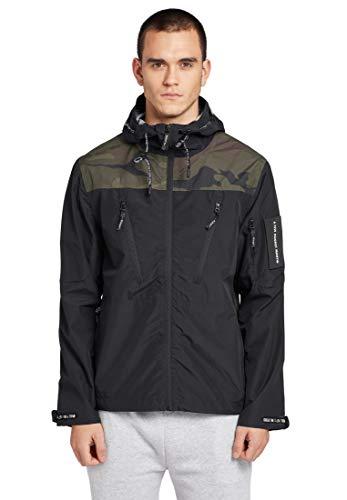 khujo Herren Jacke Matteo leichte Übergangsjacke mit Camouflagemuster und Logo-Details