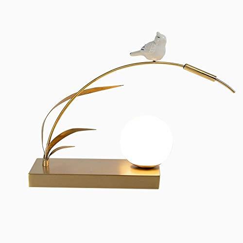 Raxinbang Lámparas de Mesa Oro, Todas Las lámparas de Mesa de latón con su Propia Bombilla G8 Fuente de luz Interruptor de botón de pulsador Base de lámpara de Metal