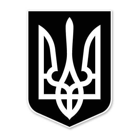 "/'/'SIZES/"" Ukraine Butterfly Flag Car Bumper Sticker Decal"