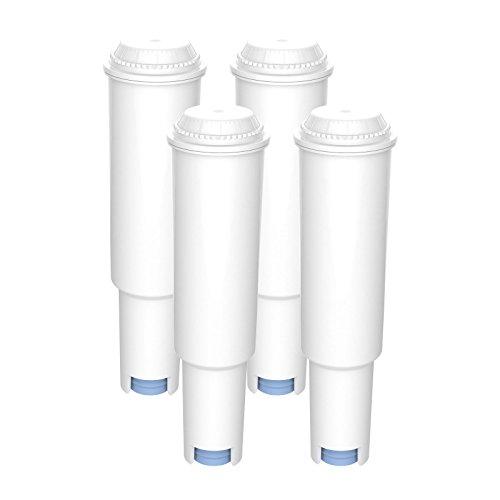 AquaCrest AQK-04 Kompatibler Kaffeemaschinenwasserfilterersatz für Jura Claris White, 60209, 68739; Nespresso N9, F5, F70, C5, C9; Capresso E8, S9; Impressa One Touch; Avantgarde S70, S85, S9 (4)