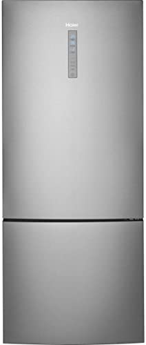 Haier HRB15N3BGS 15 cu ft Bottom Mount Refrigerator with Quick Cool and Quick Freeze in Stainless product image