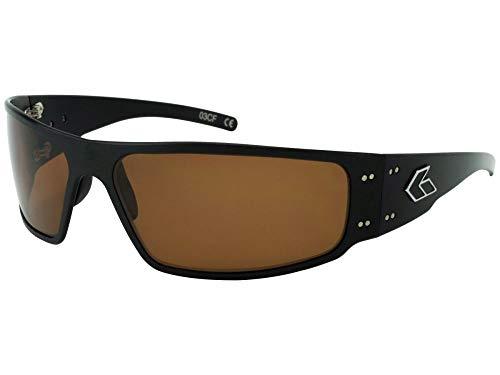 Gatorz Magnum Sonnenbrille, Metallaluminiumrahmen, Militär Tactical Style, Polarized Brown Objektiv Schwarz Einheitsgröße