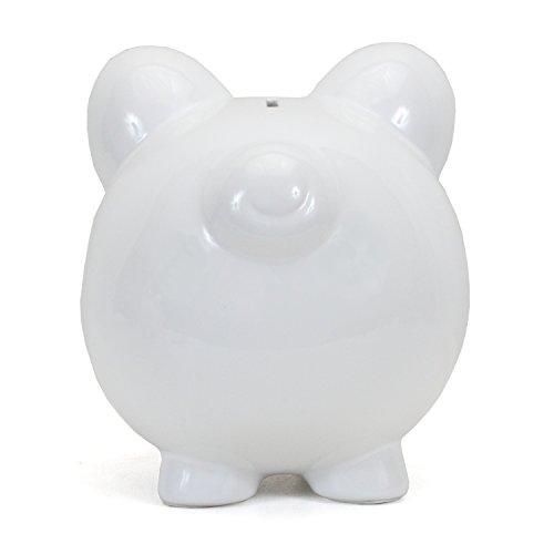Child to Cherish Ceramic Piggy Bank, White