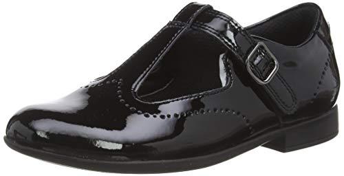Clarks Scala Seek K, Girls' Closed Toe Sandals, Black (Black Pat Black Pat), 12 Child UK (30 EU)