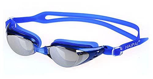 JYDZSW Gafas de natación Hombres Mujeres Profesional Anti Niebla UV Protección Waterppoof Swim Pool Natación Gafas Gafas de Agua Eyewear Earplugs (Color : Blue)