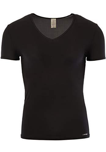 Olaf Benz - Camiseta Interior con Cuello de Pico para Hombre, Talla 50, Color Negro 8000