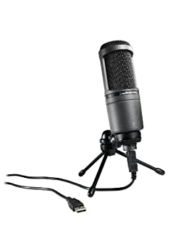 Audio-Technica AT2020USB Cardioid Condenser USB Microphone  Discontinued ,black