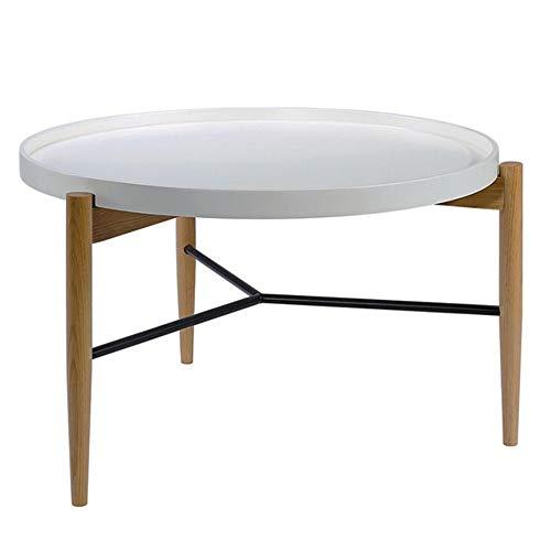 Jcnfa-tafel wit dienblad salontafel meubelcombinatie ronde bijzettafel van massief hout ronde rusttafel van de woonkamer nachtkastje en dienblad