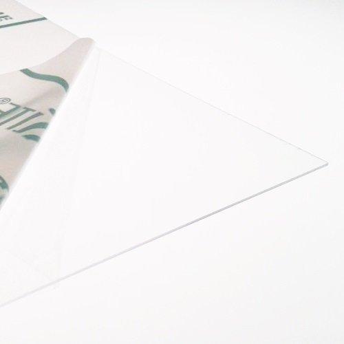 PETG-Kunststofffolie, 0,5 mm, transparent, 7 Größen zur Auswahl, für Modellbau und Puppenhaus, Fenster, 300mm x 300mm
