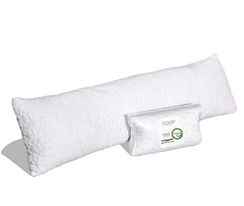 Coop Home Goods - Adjustable Body Pillow - Hypoallergenic Cross-Cut Memory Foam – Perfect for...