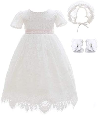 Xangirl Baby Girls Christening Baptism Dress White Lace Dress Party Wedding Special Occasions product image