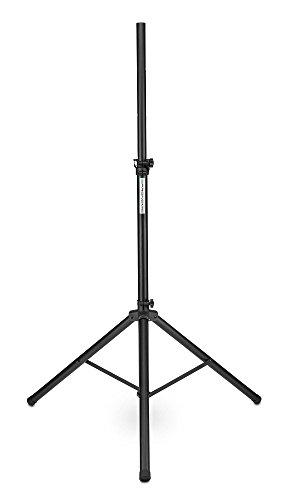 Pronomic SPS-1A Boxenstativ Alu (Boxenstativ aus Aluminium, stabile, extra breite Dreibein, 125-185 cm, auch als Dartstativ oder Fotostativ verwendbar) schwarz