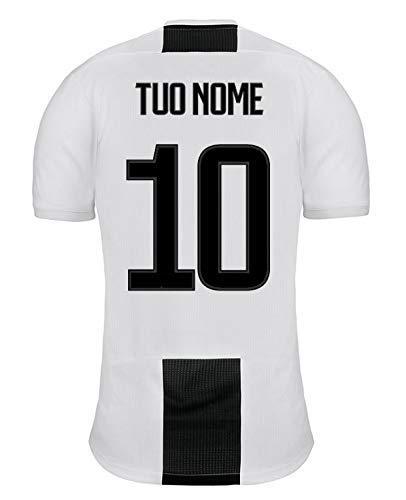 Dolce idea CIALDA in Ostia Personalizzabile per Torta Maglia Juventus con Nome E Numero A Scelta. A4 Personalizzata Decorazione Torta Squadra di Calcio