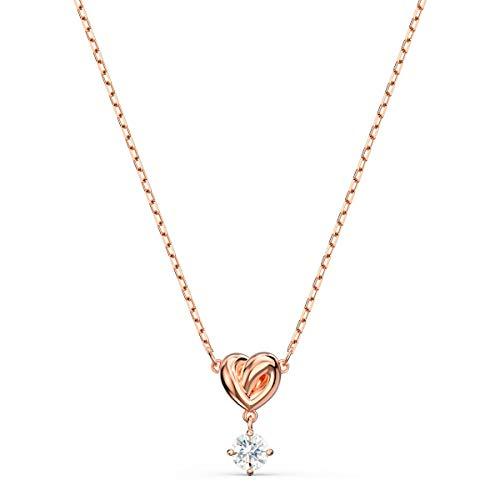 Swarovski Lifelong Heart Anhänger, Damenhalskette mit Herz-Anhänger und Funkelndem Swarovski Kristall