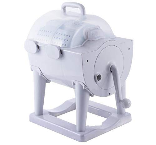 S SMAUTOP Lavadora manual, mini lavadora de tambor no eléctrica de manivela con desagüe, adecuada para acampada personal y apartamento