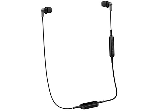 PANASONIC Bluetooth Earbud Headphones with Microphone, Call/Volume Controller and Quick Charge Function - RP-HJE120B-K - in-Ear Headphones (Black)