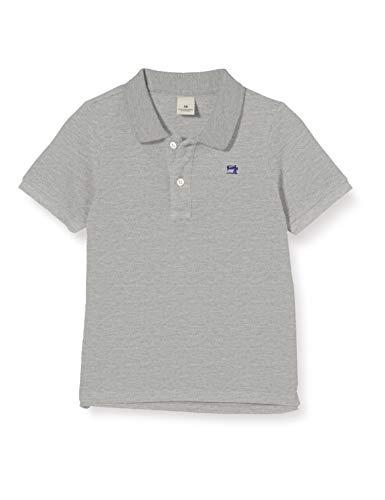 Scotch & Soda Shrunk Jungen Baumwoll-Piqué Poloshirt, Grau (Grey Melange 0606), 176 (Herstellergröße: 16)