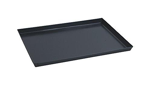 Paderno 41745-35 Teglia Rettangolare in ferro blu – Stampo da forno antiaderente, bordi alti, utilizzabile come vassoio, 35 x 28 cm, Altezza 3 cm