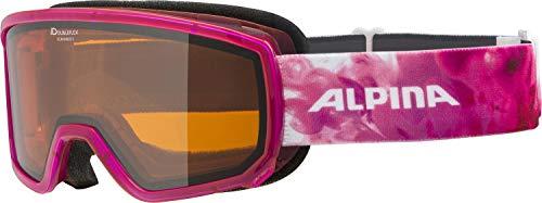 ALPINA SCARABEO S Skibrille, Unisex– Erwachsene, pink translucent, one size