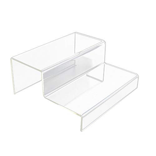 Acryl Schuhe Display Stand Regal, 2/3 Schritte Acryl Riser Clear Durable Schuhe Display Stand Regal, Lagerregal Regal Desktop Riser Clear Retail Display Stand Showcase Counter Display Stand
