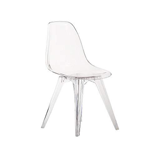 Moderne Mid-Century bureaustoel, eetkamerstoel, transparante stoel, doorzichtig, slaapkamer, woonkamer, keuken Transparentwhite
