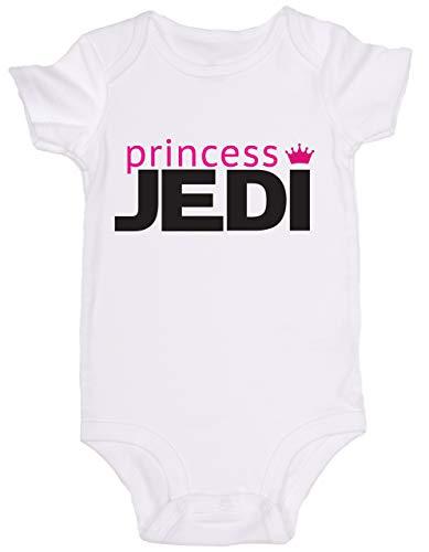 Promini Combinaison pour bébé Motif princesse Jedi Star Wars - Blanc - 9 mois