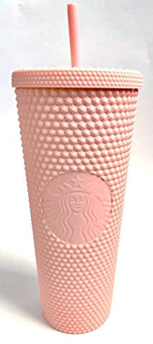 Starbucks 2020 Matte Light Pink Studded 24 oz. Tumbler Cold Cup with Straw