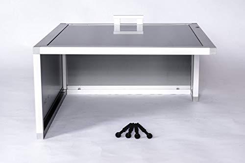 PreGaRo PG 347 Metall Mähroboter-Garage mit Schiebedach für Bosch Indego 350/400 / 700