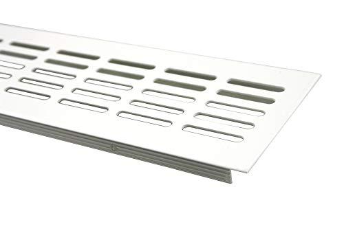 Rejillas Ventilación Placa del puente ventilación de aluminio 80mm x 300mm en diferentes colores - Blanco - RAL 9010