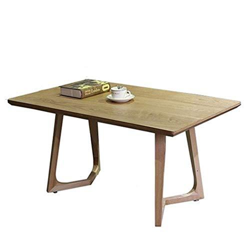 ZJN-JN Mesa Mesas Mesa de café del rectángulo noche Final soporte de mesa moderna Decoración de muebles lateral for la sala Balcón Inicio Sofá lado del extremo de la tabla (color: beige, tamaño: 100X6