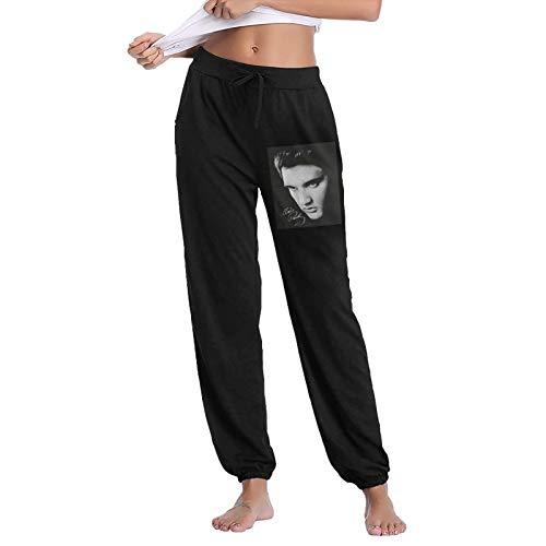 Pekivide 100% Cotton Casual Sports Women's Elvis Presley Trousers Xx-Large Black