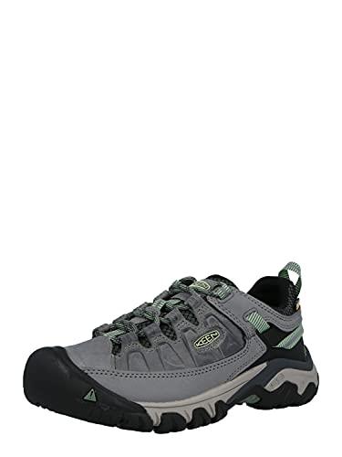 KEEN Women's Targhee 3 Low Height Waterproof Hiking Shoe, Bleacher/Duck Green, 8 US