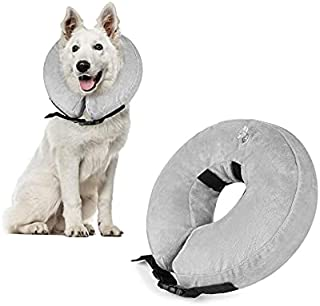Beauenty Protective Inflatable Dog Collar, Soft Pet Recovery E-Collar Cone for Medium Large Dogs, Designed to Prevent Pets...