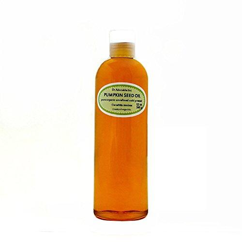 Aceite de Semillas de calabaza sin refinar Virgen Pura Orgánica por Dr. Adorable 12oz