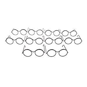 Material: Alloy Lens Diameter: Approx. 2.2cm/ 0.9 inch. Glasses leg length: Approx. 4.8cm/ 1.9inch. Width: Approx. 5.7cm/ 2.3inch. Quantity: 10 Pcs eyeglass frames. Fits for 22 inch Doll or other dolls in the same size 100% Brand New and High Quality...