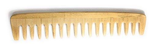 niavida Peigne en bois mèche 17,5 cm Locke Peigne fabriqué à la main