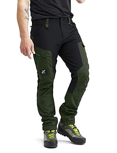 RevolutionRace Herren RVRC GP Pants, Hose zum Wandern und für viele Outdoor-Aktivitäten, Forest Green, XL