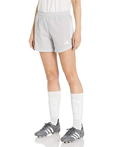 adidas Pantalón Corto para Mujer Condivo20 Show, Mujer, Pantalones Cortos, GLE51, Team Light Gris/Blanco, S Long