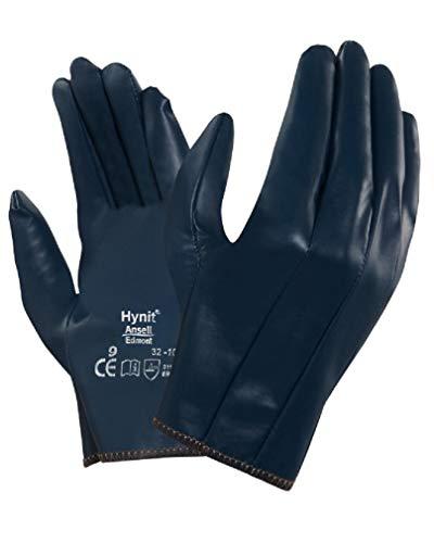 Confezione 12 pezzi Guanti HYNIT 32-105 da lavoro rivestimento in nitrile resistenti abrasione traspiranti Blu (9)