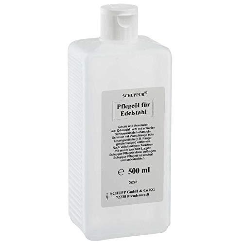 SCHUPPUR Pflegeöl für Edelstahl 500 ml Edelstahlpflegemittel, Edelstahlreiniger
